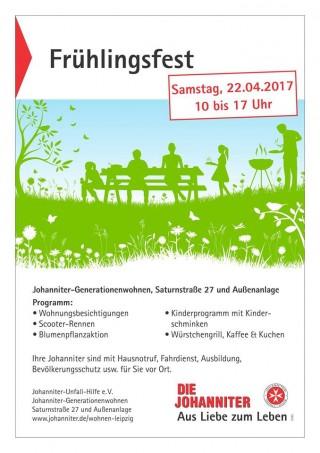"""Bildinhalt: Veranstaltungshinweis: """"Frühlingsfest im Johanniter-Generationenwohnen"""""""
