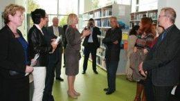 Besichtigung des Bibliothek-Neubaus in Gr?nau. Foto: Susanne Schulze / Berufsakademie Sachsen