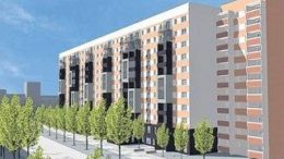 186 barrierefreien Wohnungen + AWO-Station f?r Offenburger Stra?e geplant. Entwurf: Gr?n Architekten