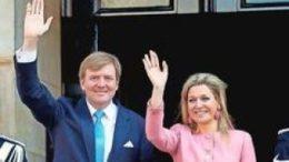 K?nig Willem-Alexander und K?nigin M?xima kommen am Do. nach Gr?nau. Foto: dpa